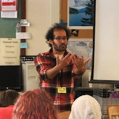 Anis Mojgani visits Metropolitan Learning Center