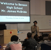 James McBride Visits Benson High School