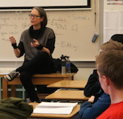 Ruth Ozeki visits Film & Literature Classes at Grant High School