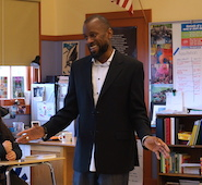 Poet Bruce George visits Benson High School