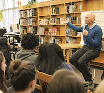 Anthony Doerr Visits Franklin High School