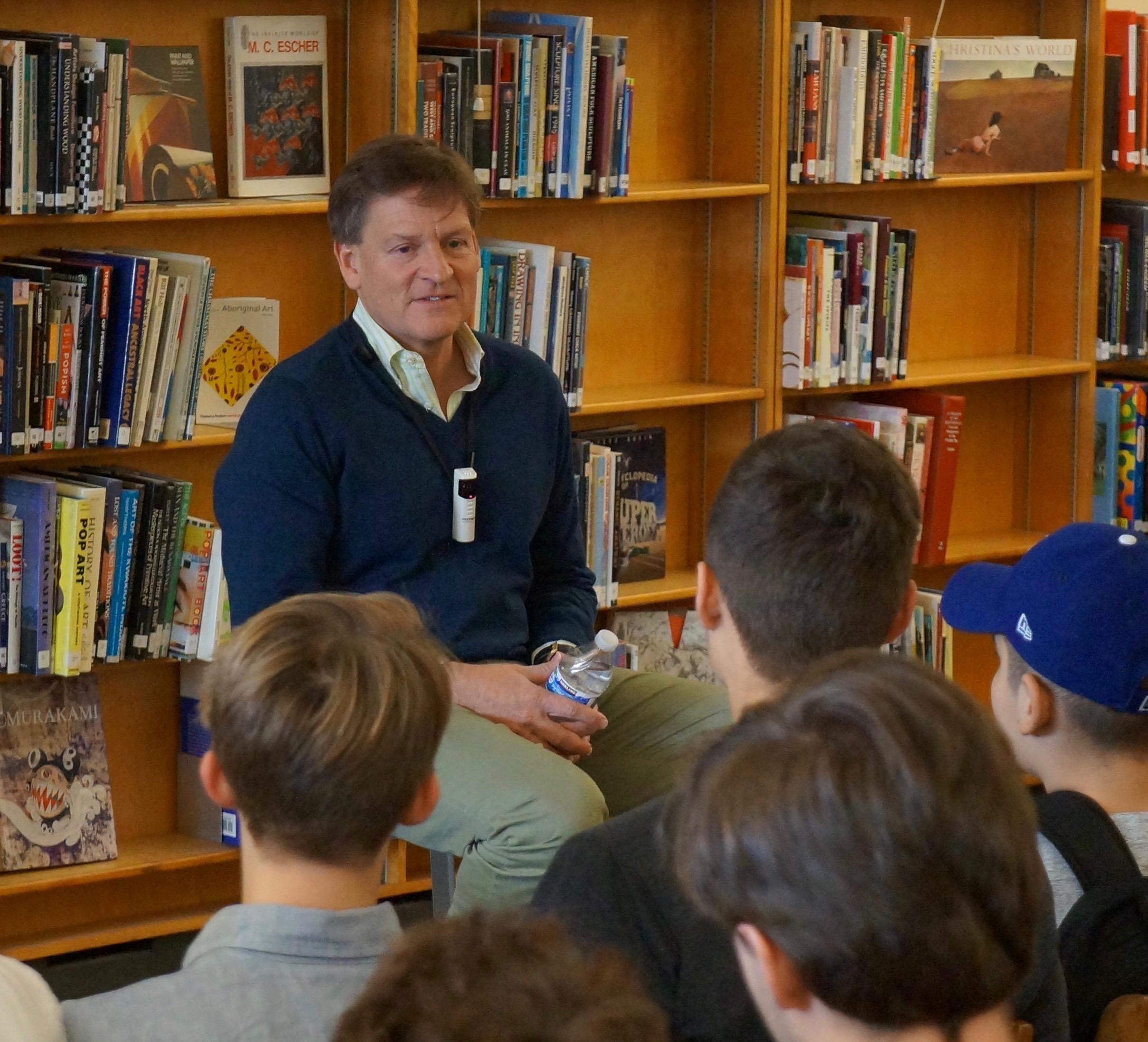 Michael Lewis visits Franklin High School
