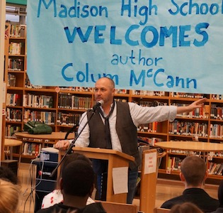 Colum McCann visits Madison High School