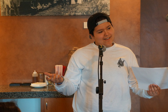 Gresham High School WITS Reading at Origins Coffee, Tea & Desserts