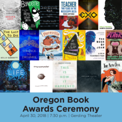 2018 Oregon Book Awards Finalist: Fiction