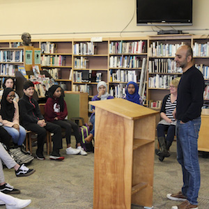 Mohsin Hamid visits Parkrose and Wilson High Schools for Everybody Reads