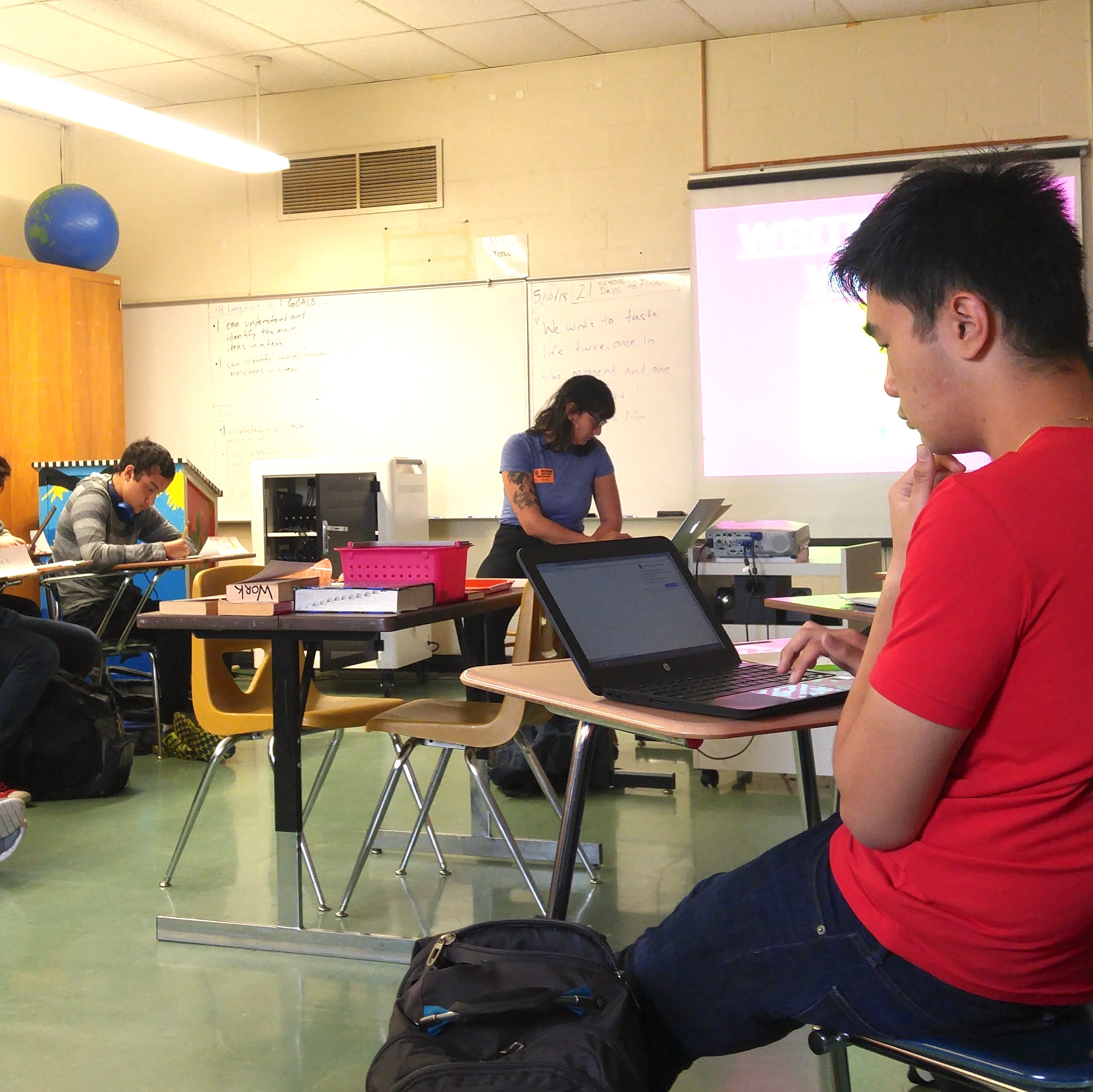 Classroom Visit: WITS writer Emilly Prado at Gresham HS