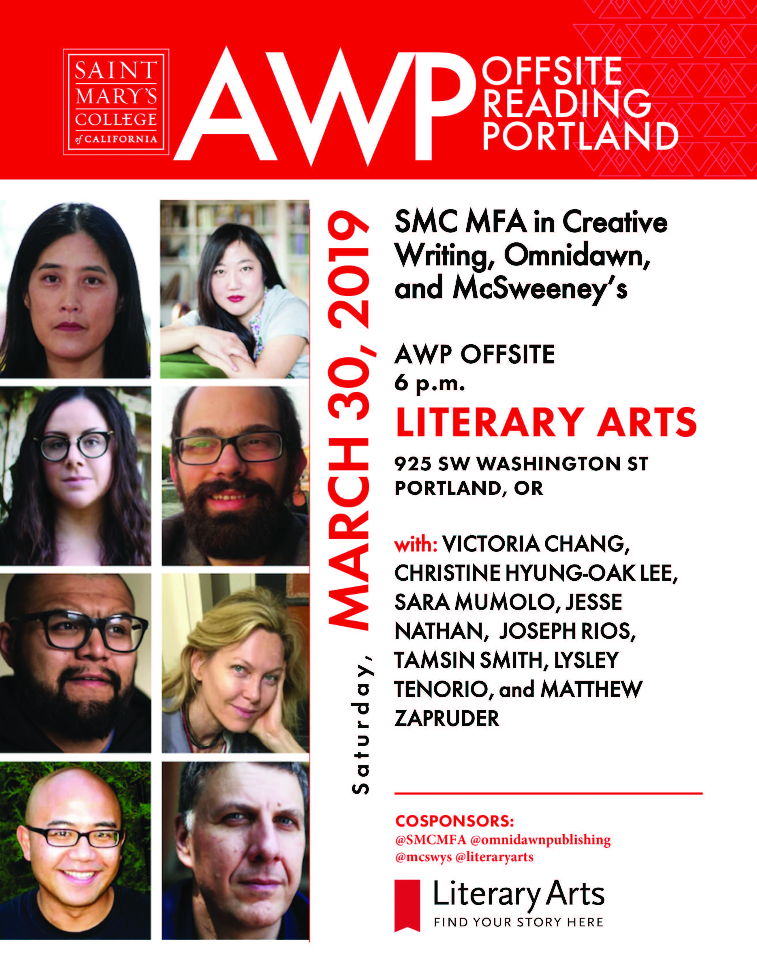 Smc Calendar 2019 SMC MFA, Omnidawn, and McSweeney's: AWP off site reading