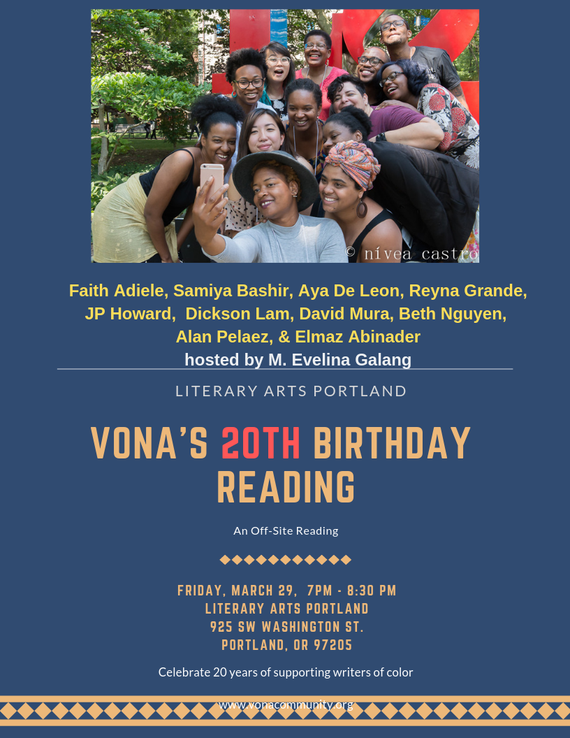VONA's 20th Birthday reading: Off-site AWP event