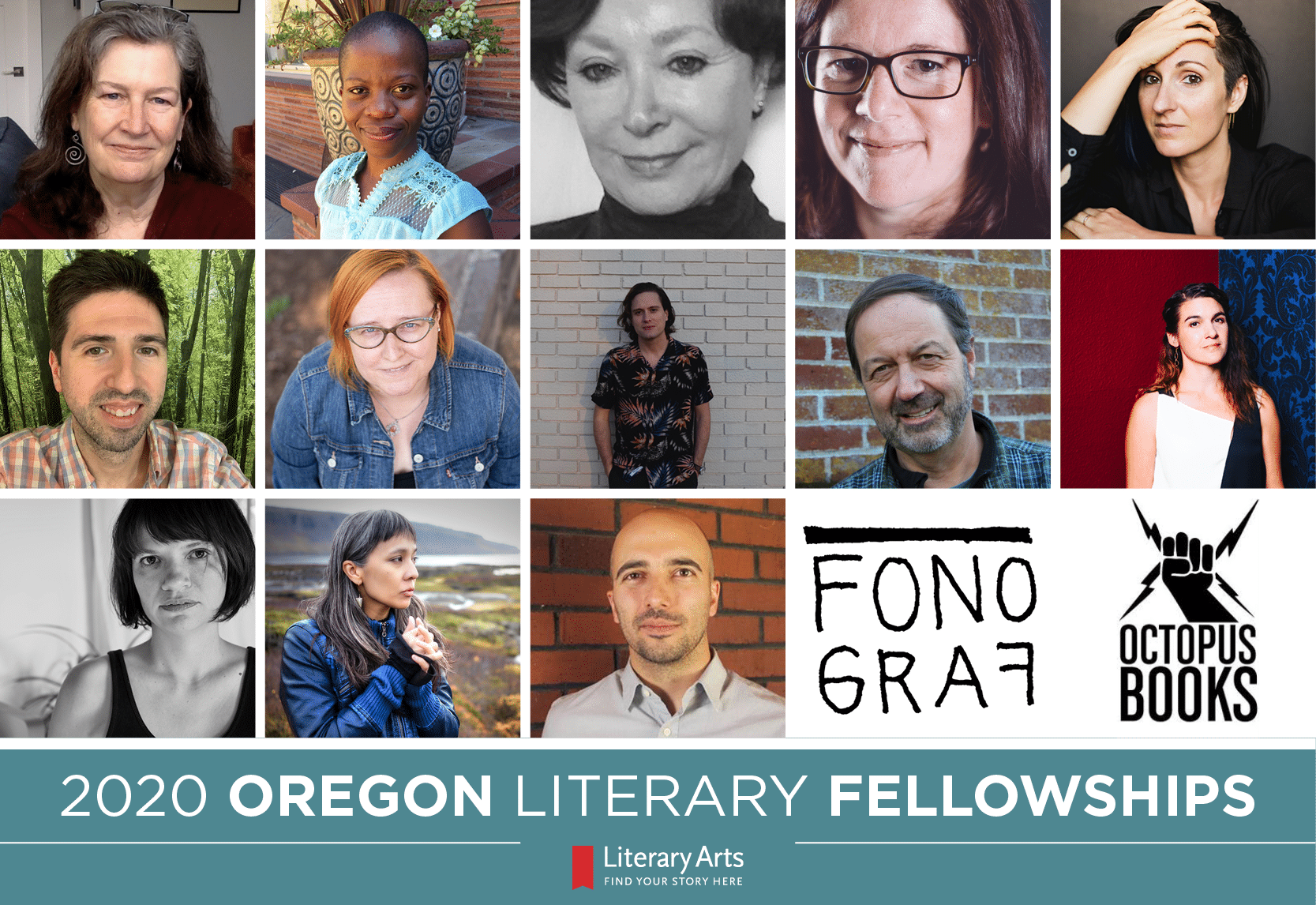 Announcing the 2020 Oregon Literary Fellowship Recipients