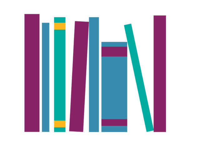 illustrated stack of books