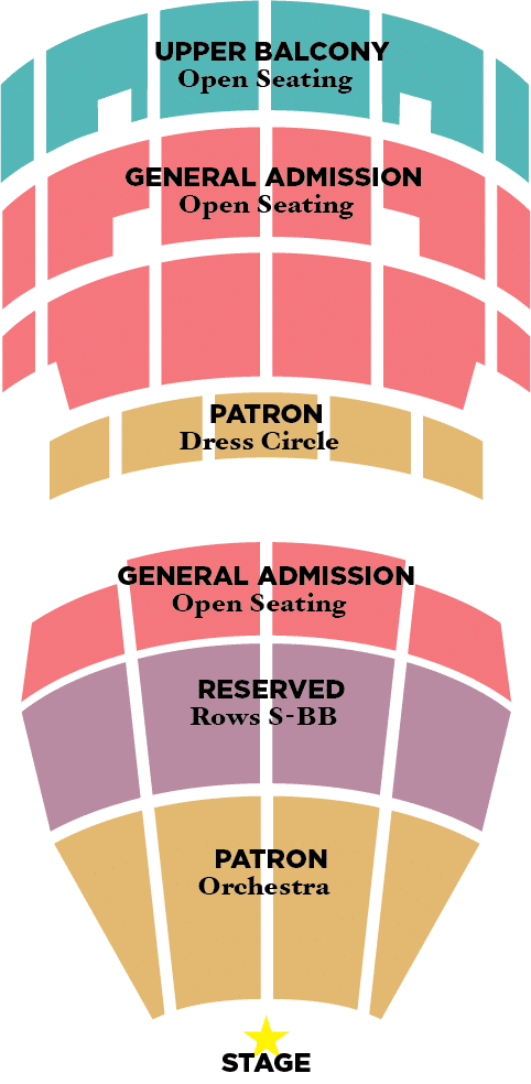 Schnitzer Hall Seating Chart